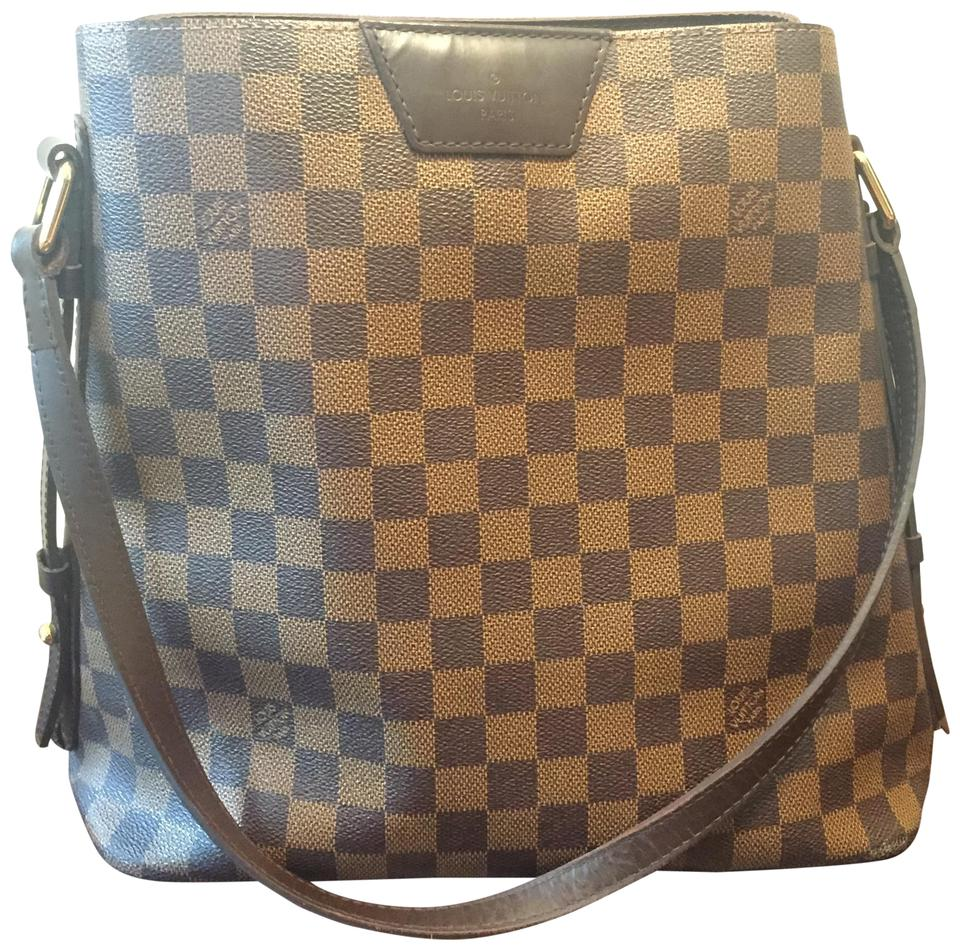5ec4ea5c5350 Louis Vuitton Leather Discontinued Monogram Damier Canvas Zippers Tote in  Brown Image 0 ...