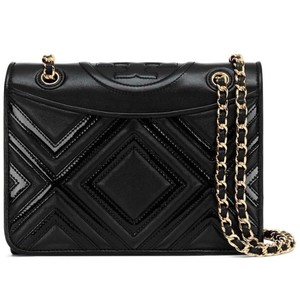 Tory Burch Fleming Holiday Geo Patent Leather Flap Cross Body Bag