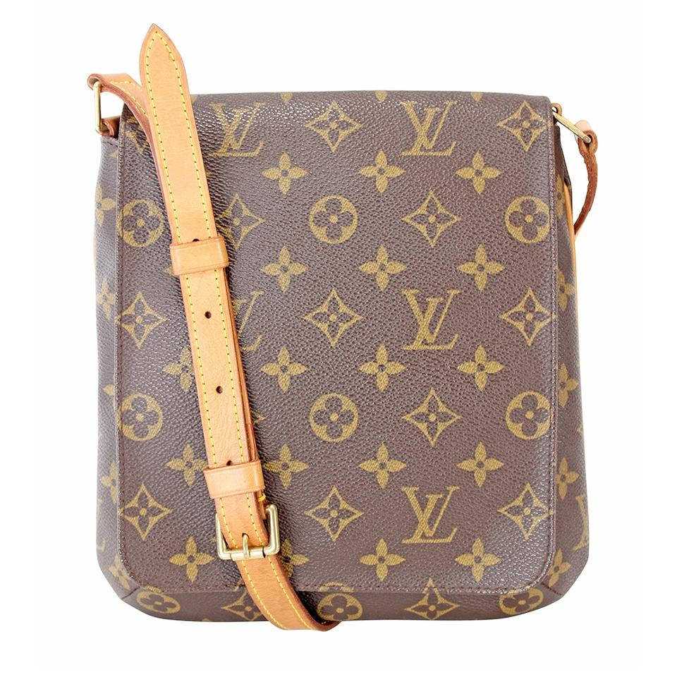 35f5b339d765 Louis Vuitton Musette Monogram Salsa Lv M51258 Brown Canvas Shoulder ...