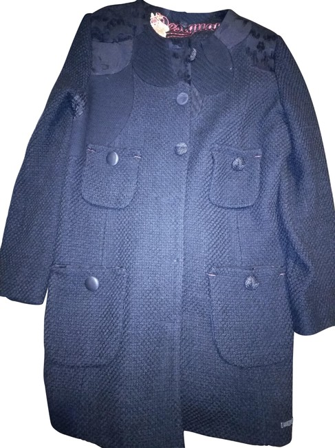 Item - Black Red 44 Made In Morocco Thick with Pockets Coat Size 8 (M)