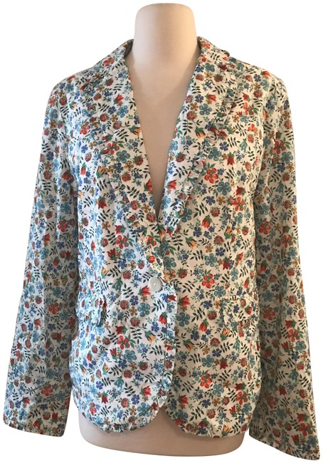Item - Multicolor Campbell Blazer with Ruffle Trim In Liberty Edenham Floral Jacket Size 14 (L)