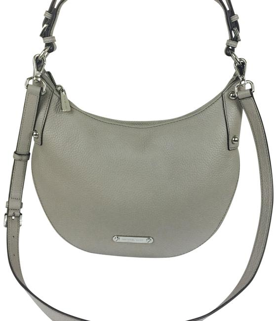 Item - Hayes Convertible Pearl Grey Leather Cross Body Bag