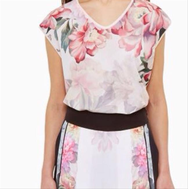 d66bba80491d6a Ted Baker Baby Pink Women s Kushine Painted Posie V Neck Woven Tee ...