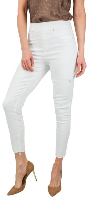 Item - White Made In Italy 44 Light Cotton Pants Size 8 (M, 29, 30)