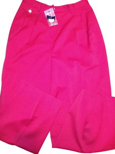 Burberry Straight Pants Red