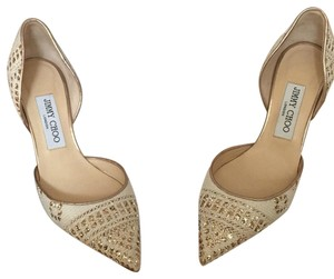 Jimmy Choo off white / gold Pumps
