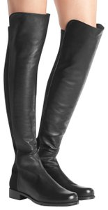 Stuart Weitzman Knee High Over The Knee Leather Sexy Black Boots