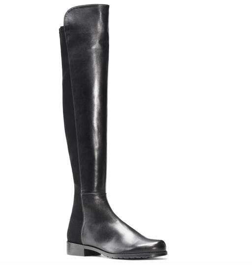 Stuart Weitzman Knee High Over The Knee Leather Sexy Black Boots Image 1