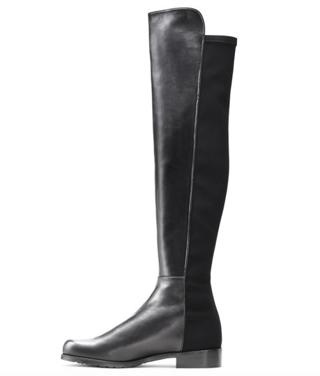 Stuart Weitzman Knee High Over The Knee Leather Sexy Black Boots Image 2