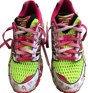 Asics pink and neon yellow Athletic