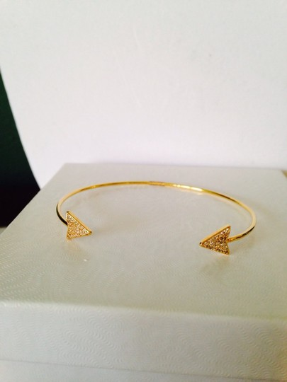 Tai NWOT Pave Crystals In 14kt Gold-Plated Sterling Silver Pinch Bracelet