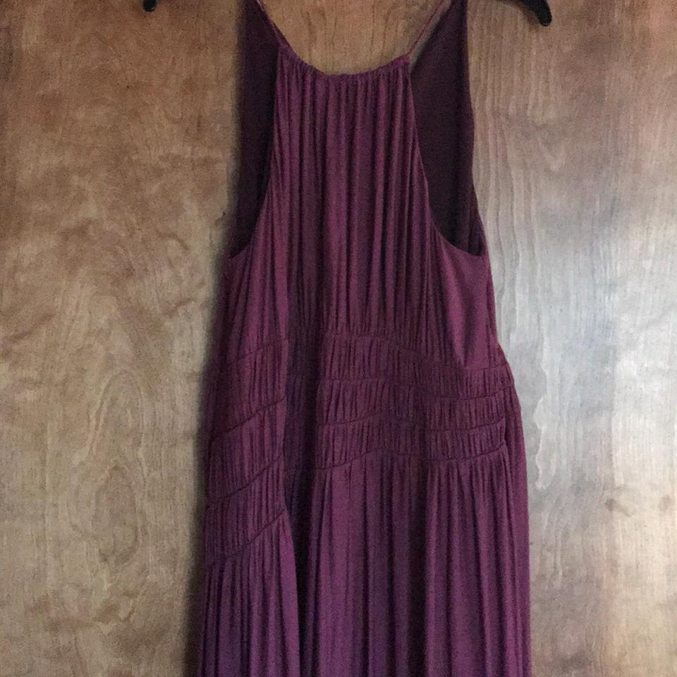 Anthropologie burgundy moulinette soeurs long casual maxi for Anthropologie mural maxi dress