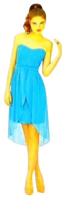 Item - Turquoise 8120 Mid-length Night Out Dress Size 6 (S)