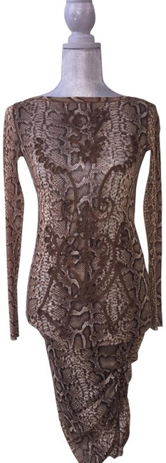 snake print long short casual dress size 4 s tradesy. Black Bedroom Furniture Sets. Home Design Ideas