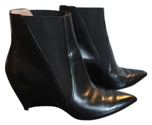 Furla Leather Italian Black with patent heel Boots