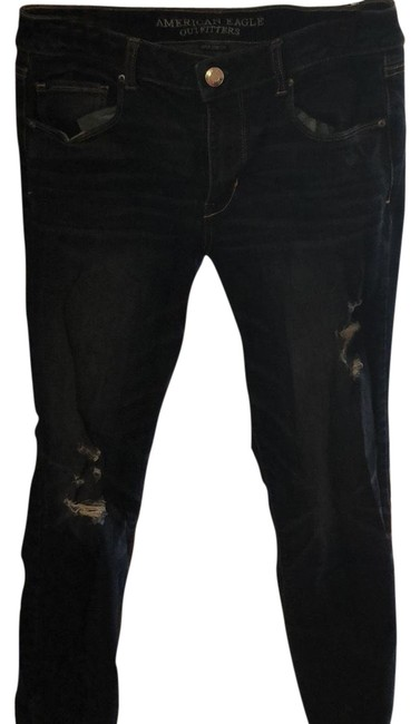 Item - Distressed High Rise Long Skinny Jeans Size 34 (12, L)