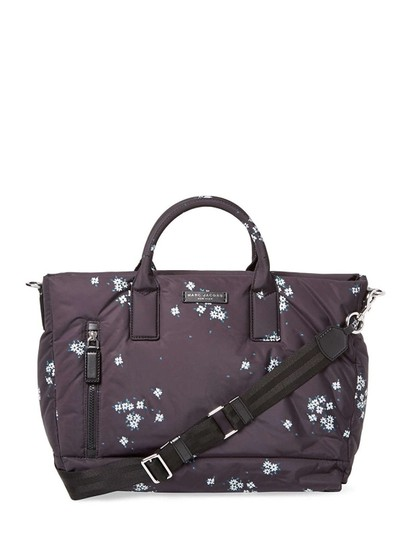 marc by marc jacobs black nylon floral diaper bag tradesy. Black Bedroom Furniture Sets. Home Design Ideas