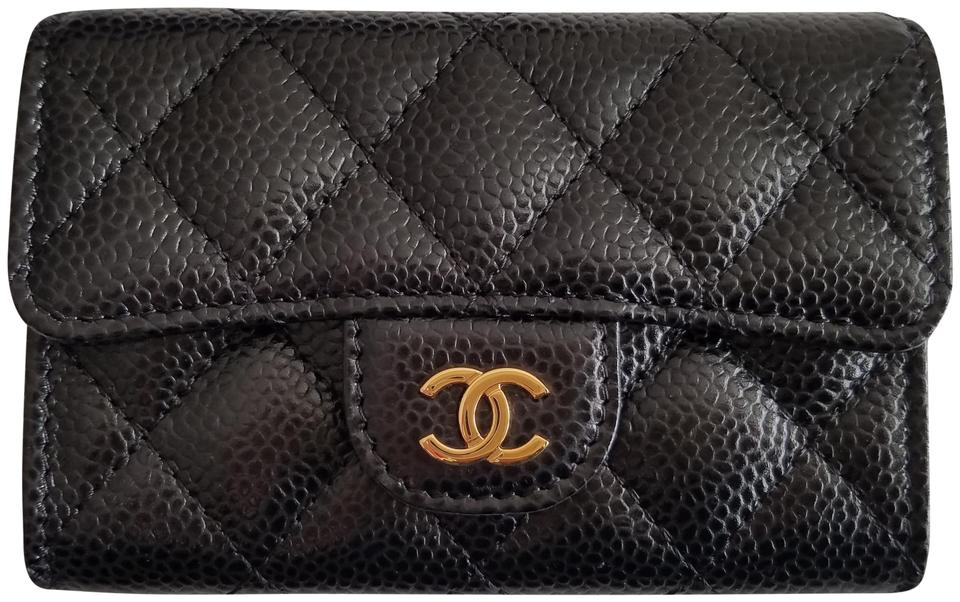 b7d599122f9a Chanel Brand New Caviar Classic Flap Card Holder Gold Hardware GHW Image 0  ...
