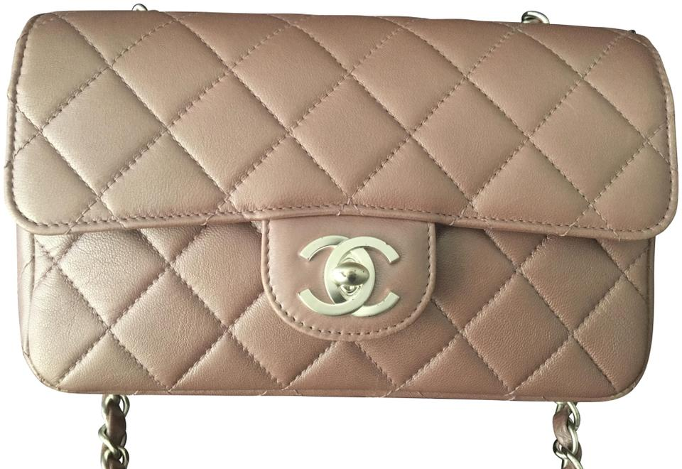 3948ec291299 Chanel Mini Flap Classic Pearlized Lavender Lambskin Leather Shoulder Bag