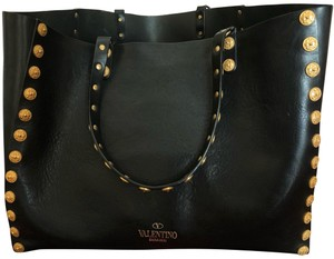 Valentino Tote in Black with Gold