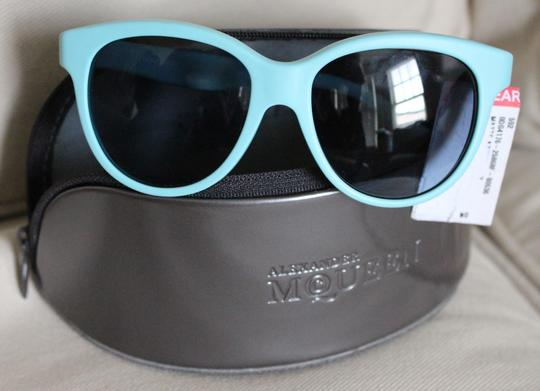 Dolce&Gabbana NWT MATT SILK SMALL SZ Unisex CAT EYE AQUA+GREY DG 4176 2586 Image 5