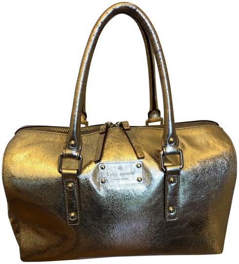 Preload https://img-static.tradesy.com/item/22505406/kate-spade-structured-gold-lame-satchel-0-2-540-540.jpg