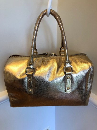 Kate Spade Satchel in Gold Lame