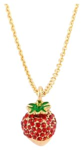 Kate Spade Kate Spade Sweet Desserts Strawberry Pendant Necklace NWT