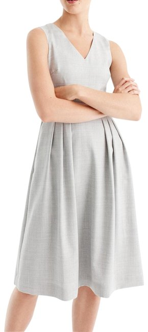 Preload https://img-static.tradesy.com/item/22505671/jcrew-gray-v-neck-lined-in-super-120s-wool-new-mid-length-cocktail-dress-size-8-m-0-1-650-650.jpg
