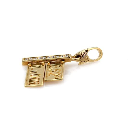 Cartier Diamond 18k Yellow Gold 52nd Street Sign Charm Pendant Image 2