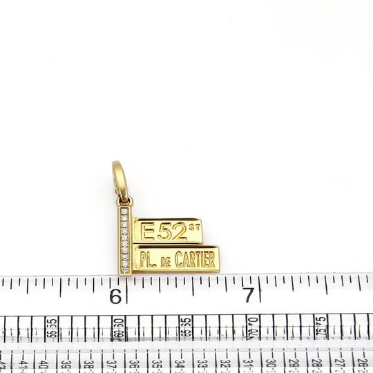 Cartier Diamond 18k Yellow Gold 52nd Street Sign Charm Pendant Image 5