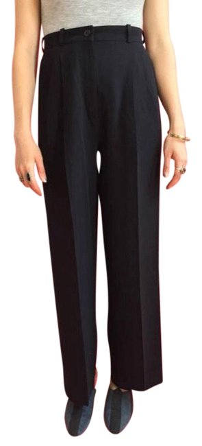 Preload https://img-static.tradesy.com/item/22505877/hermes-black-vintage-trousers-relaxed-fit-pants-size-6-s-28-0-1-650-650.jpg