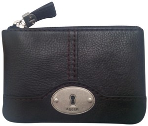 Fossil Travel Crossbody Wristlet Shoulder Messenger Black Clutch