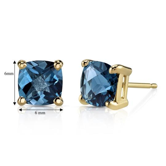 Other 14K London Blue Topaz Studs