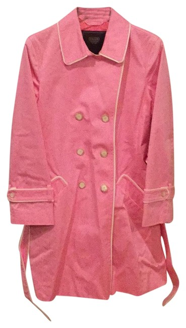 Preload https://item1.tradesy.com/images/coach-pink-trench-coat-size-14-l-22506050-0-1.jpg?width=400&height=650
