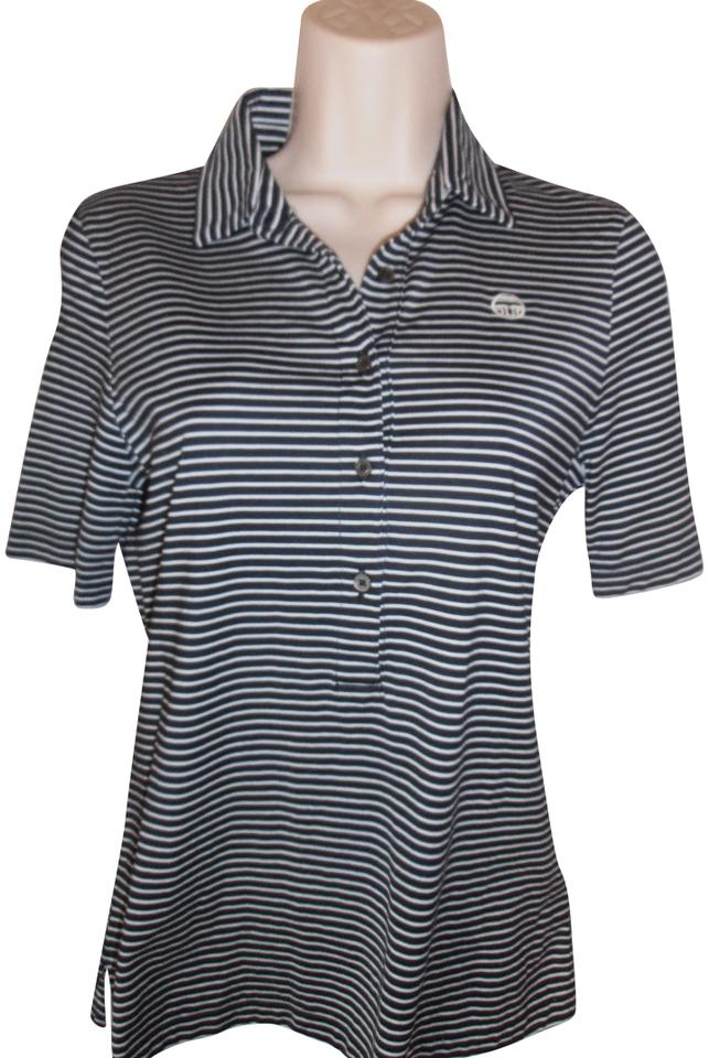 a1006b0d3068 Tory Sport by Tory Burch Cotton Blouse Size Small Navy White Striped ...