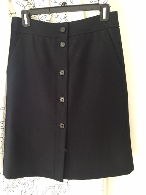J.Crew Classic Comfortable Wool A-line Skirt Black