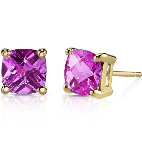 Other 14K Pink Spphire Studs
