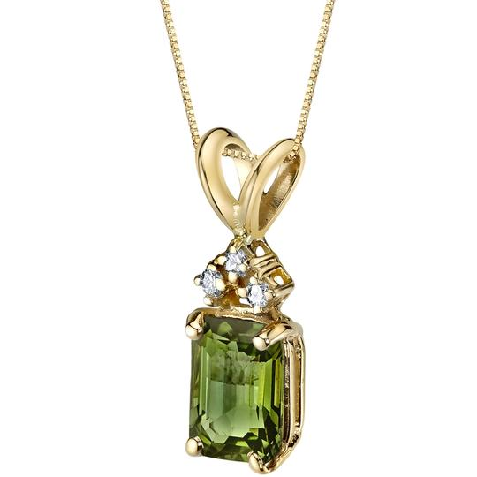 Other 14K Green Tourmaline Pendant