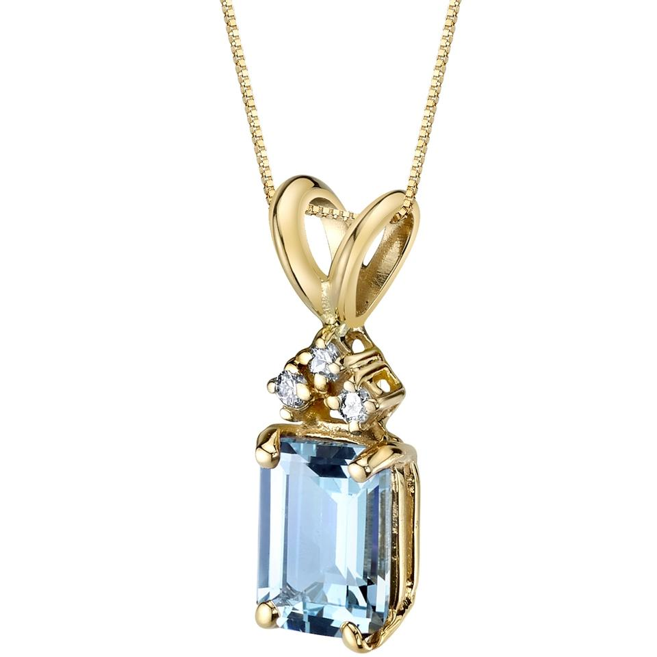new gold aqua drop aquamarine products plated tear pendant moon marine