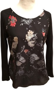 French Connection Long Sleeve Pullover Top floral