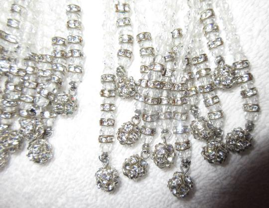 Unbranded Jessye Norman Estate Crystal Tassel Clip Earrings Opera Chandelier