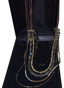 CLP Multi-strand Semi-precious stone and suede necklace made by CLP.