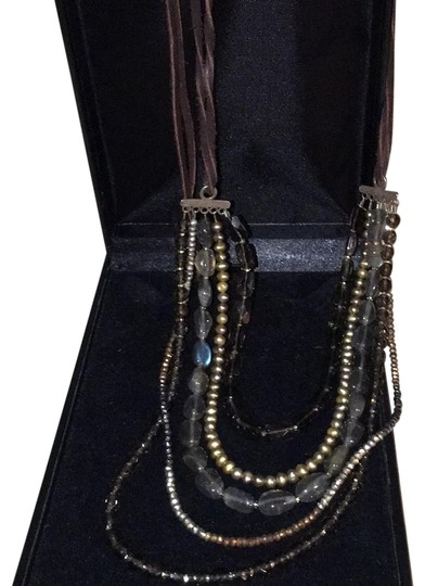Preload https://item1.tradesy.com/images/multiearth-tones-multi-strand-semi-precious-stone-and-suede-made-by-clp-necklace-22506545-0-1.jpg?width=440&height=440