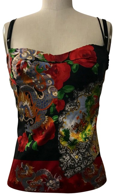 Preload https://item1.tradesy.com/images/dolce-and-gabbana-red-1990s-dragon-tank-topcami-size-6-s-22506550-0-1.jpg?width=400&height=650