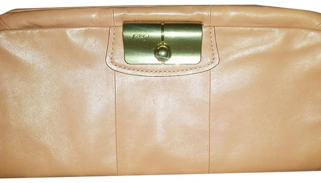 Item - Coral Leather Clutch