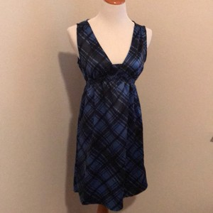 Black and Navy Blue Maxi Dress by dELiA*s