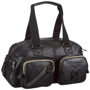 Kipling New With Tags Leather Defea Satchel in Black