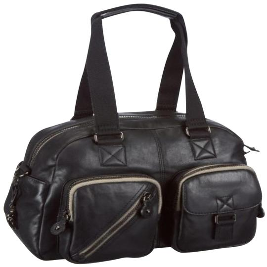 Kipling New With Tags Leather Defea Satchel in Black Image 0