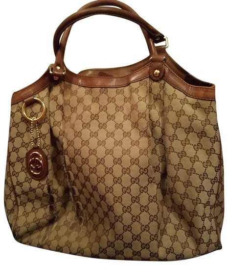 Preload https://img-static.tradesy.com/item/22506577/gucci-sukey-brown-canvas-tote-0-1-540-540.jpg